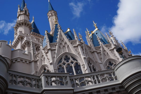 Cinderella Castle stands just under 200 feet, so the turrets don't have to have flags at the top to warn planes.