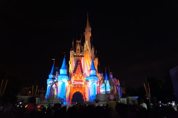 Cinderella Castle is beautiful at night!