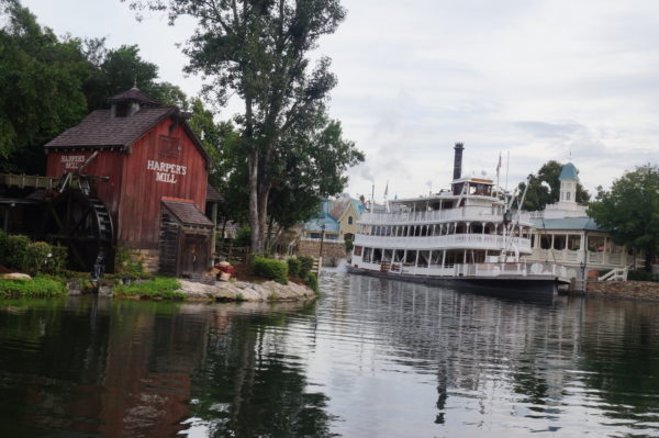 Liberty Square Riverboat allows riders to cruise the Rivers of America like they did in the old days.