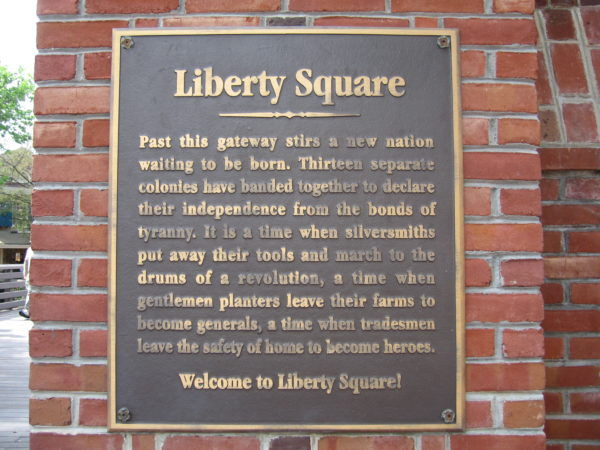 Liberty Square is a land of its own!