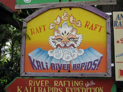 Kali River Rapids - you will get wet. Very wet.