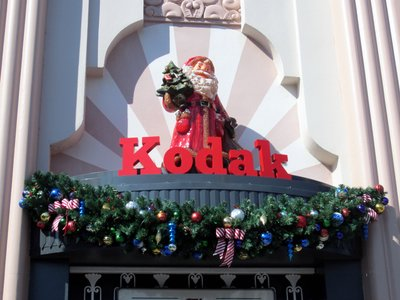 Santa and Kodak - Christmas at Diseny's Hollywood Studios