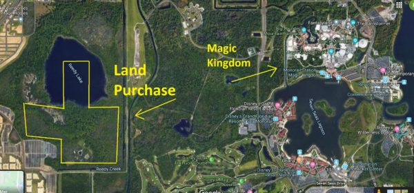 Approximate location of Disney land purchase. Map credits (C) Google. All Rights Reserved