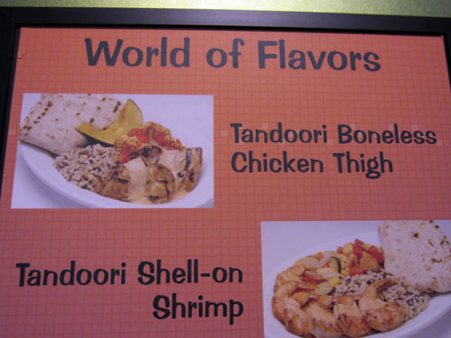 The tandoori choices are very unique.