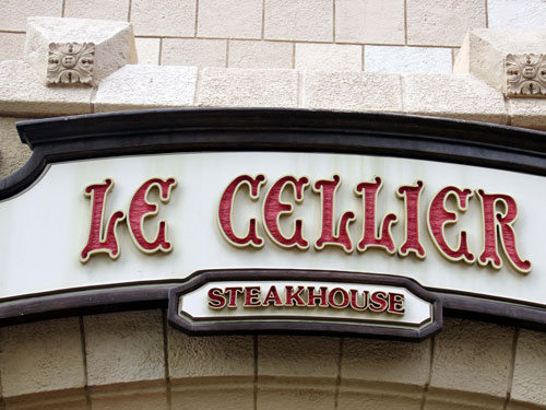 Le Cellier is awesome but it's often booked up.