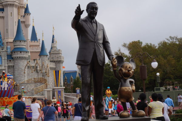 Perhaps the most inspiring thing in Disney World is the Partner Statue where Walt and Mickey are holding hands and pointing to all they accomplished together.