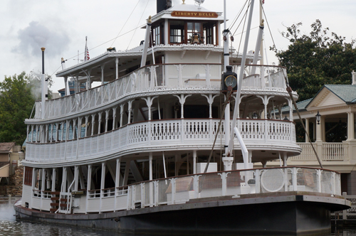 The Liberty Belle fits well into the loading area known as Liberty Square.