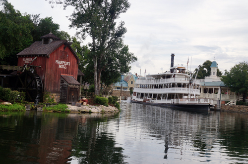 Few attractions existed on the edge of the Rivers of America when it first opened. That has changed now!