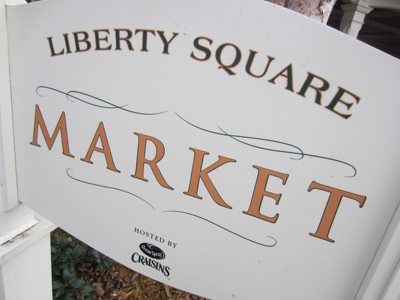 Be sure to check out the Liberty Square Market.