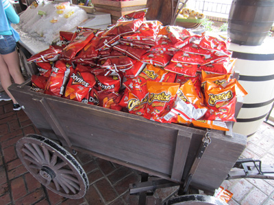 A cart full of chips.  Nice.