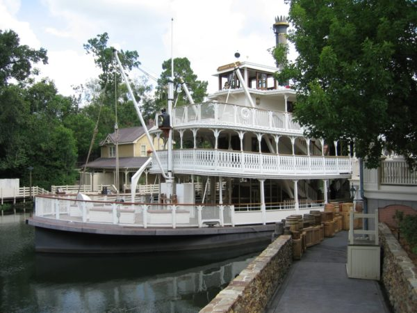 The Liberty Square Riverboat near the docks.