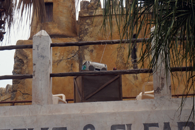 This boom box was pumping out the tunes - or so the Imagineers wanted us to believe.
