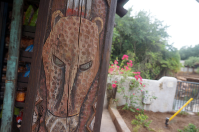 You will find great carvings all around the area.