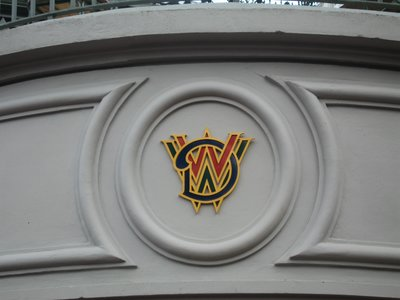 Walt Disney World logo on the Main Street USA Train Station.