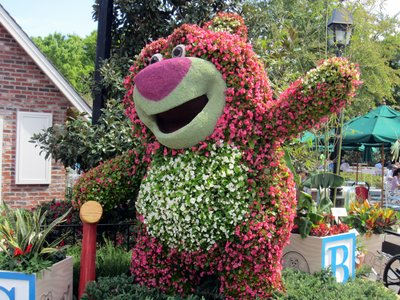 Lotso Huggin Bear near The American Adventure.