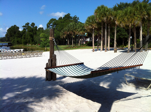 Enjoy the beaches from one of the hammocks, which are free for guests to use.