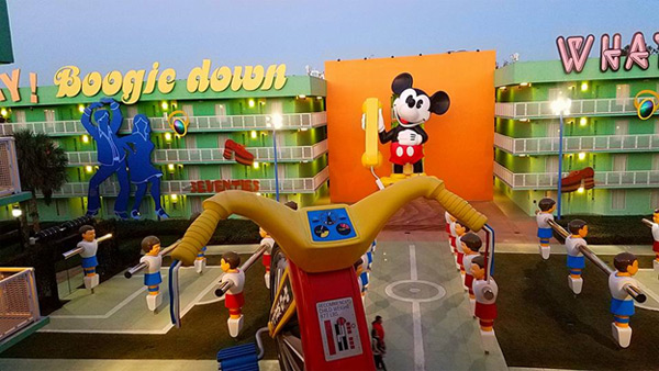You can't miss the amazing theming at Disney's Pop Century Resort. It's larger than life and twice as bright!