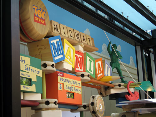 You'll love the nostalgia of the Toy Story Mania queue line.