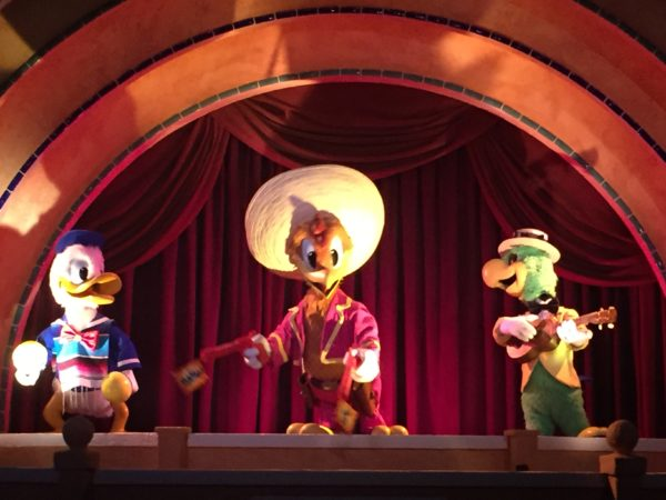 The Gran Fiesta Tour is a dark boat ride with short wait times.
