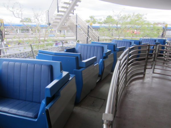 The Tomorrowland Transit Authority People Mover functions is an omnimover ride, so even when it's busy, you'll get on pretty quickly.