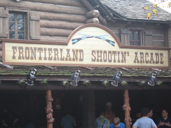 Frontierland Shootin' Arcade is a bit outdated and they don't offer any prizes!