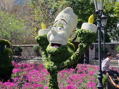 Lumiere from Beauty and the Beast hams it up in France.