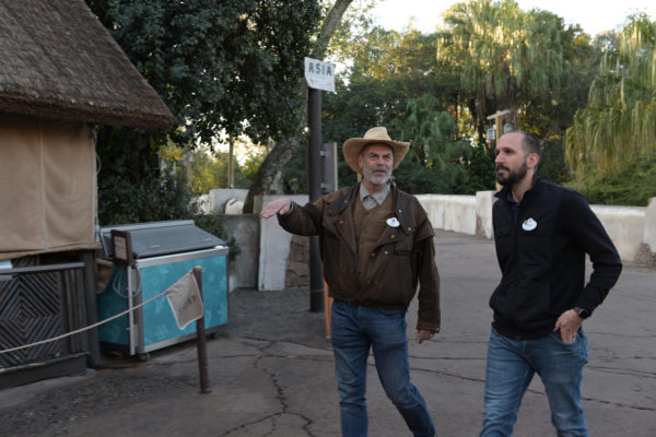 Joe Rohde tours Animal Kingdom with Kyle Price, Art Director. Photo credits (C) Disney Enterprises, Inc. All Rights Reserved