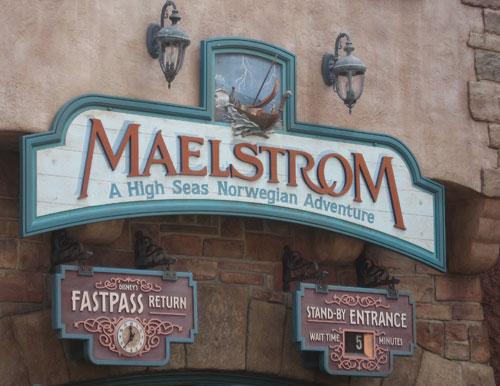 After a 26 year run, Disney will close Maelstrom.