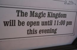Imagine being at the Magic Kingdom until 11 pm again!