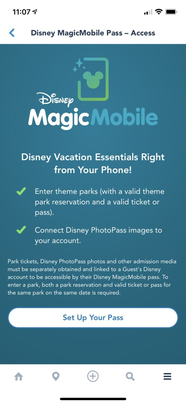 MagicMobile start up screen. Photo credits (C) Disney Enterprises, Inc. All Rights Reserved