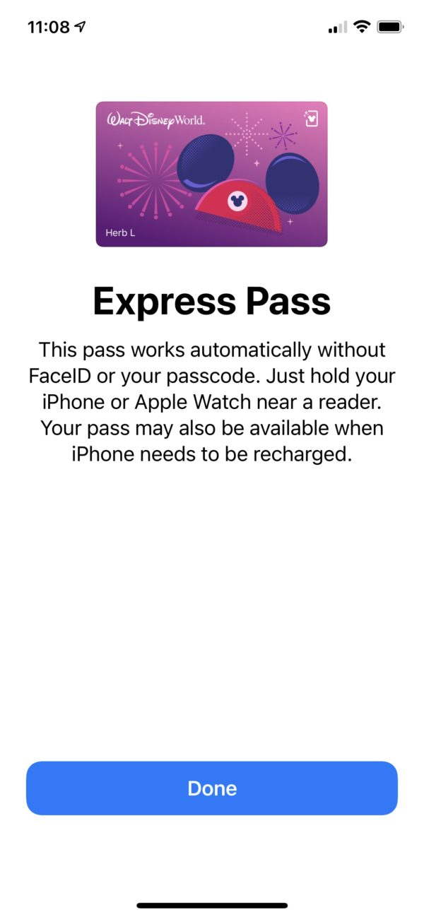 You don't need to unlock your phone with a code or FaceID in order to access your ticket. Photo credits (C) Disney Enterprises, Inc. All Rights Reserved