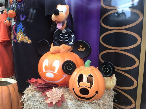 Pluto is sporting a skeleton look for Halloween.
