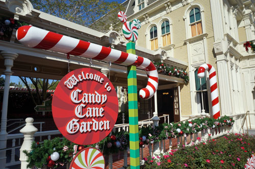 Stop by and visit Santa at the Candy Cane Garden.
