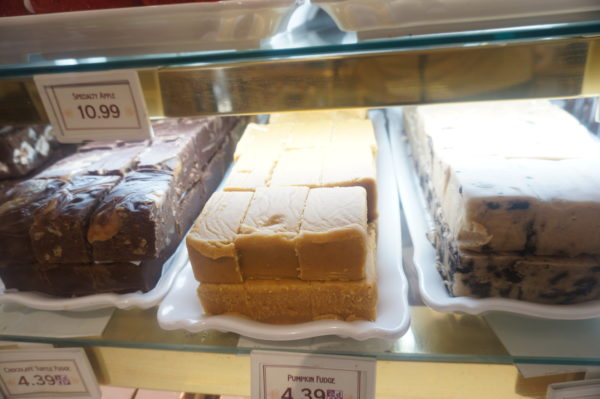 Main Street Confectionery makes a variety of fudge flavors including peanut butter, chocolate, cookies and cream, and even seasonal flavors.
