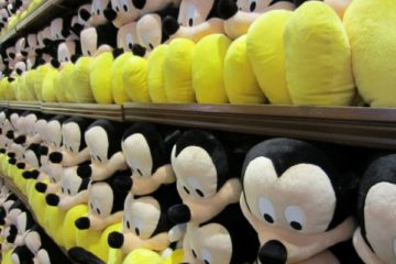 Mickey Mouse waiting to be purchased.