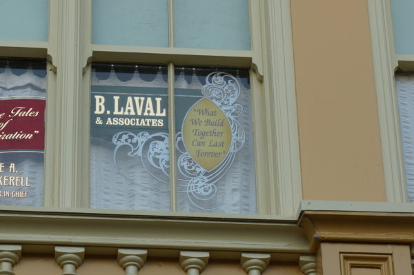 Laval's contributions are honored above the Watches Store as shown in this photo!