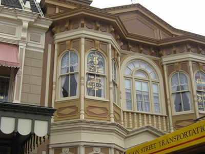 Reading the windows is like taking a trour through a museum of Disney World history.