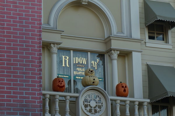 Charles Ridgeway helped launch three Disney parks and was named a Disney Legend in 1999 and awarded with this window on Main Street USA.