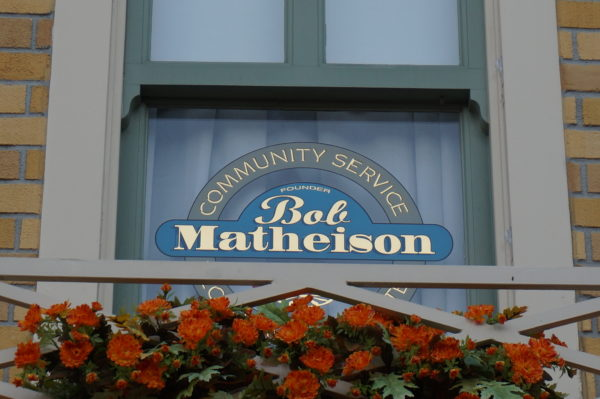 Mathieson was known for his service to the Disney community and recruiting and retaining the best. He was named a Disney legend in 1996 and is honored with a window above Plaza Ice Cream.