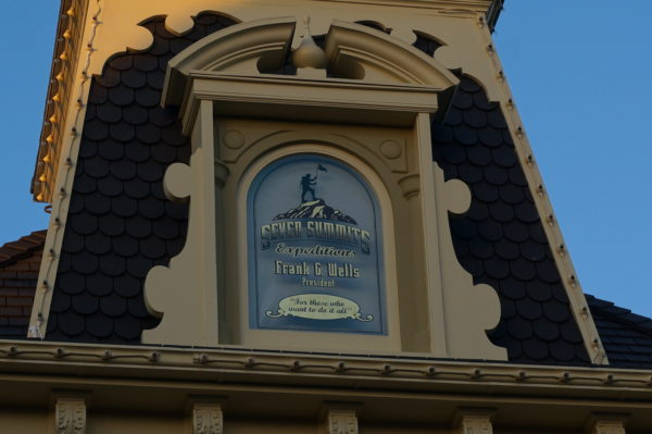 Wells' window honors his love of mountain climbing and is the highest window on Main Street to pay tribute to his incredible contribution to the Walt Disney Company.