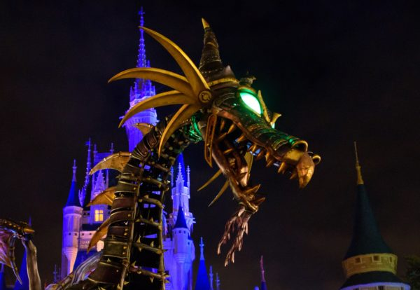 The Maleficient parade float returns to the Festival of Fantasy parade in the Magic Kingdom. Photo credits (C) Disney Enterprises, Inc. All Rights Reserved