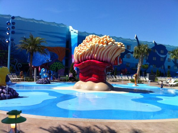 The Disney Resort Hotel Pools are a great place to meet up!