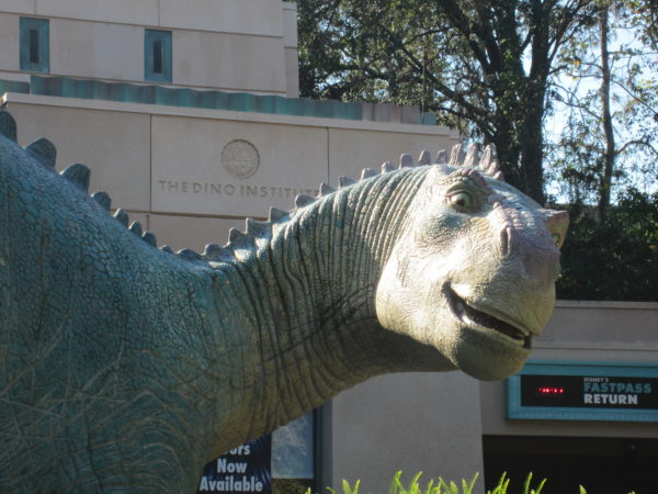 If you're in Disney's Animal Kingdom, consider meeting at the Iguanodon Aladar at Dinosaur.