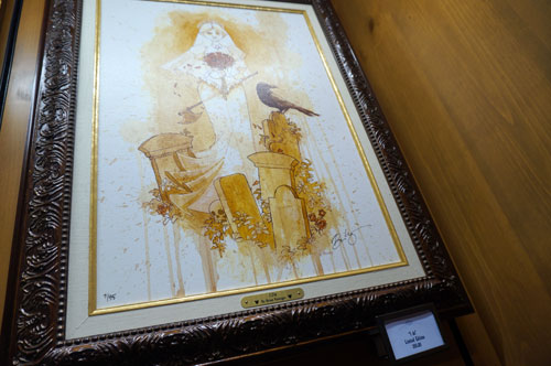 Some of the items are expensive, like this art for $395.