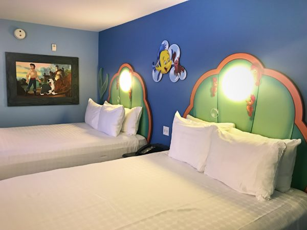 The headboards have lights might just be bubbles or pearls.