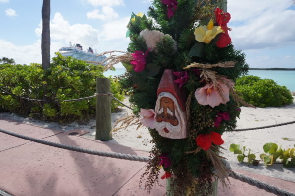 The walkway that connects the doc to the main section of the island has some fun touches.