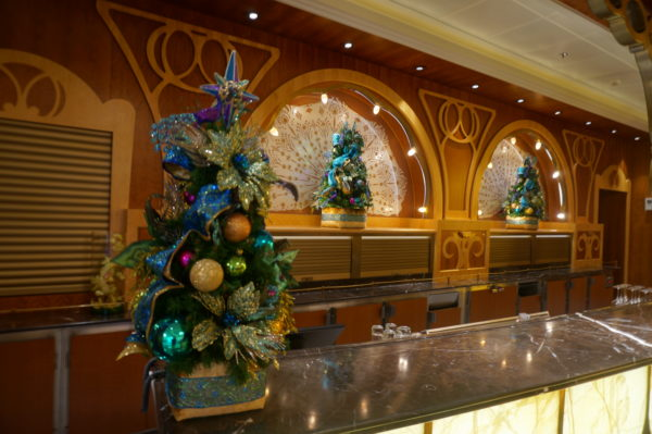 Disney adds Christmas touches throughout the ship.