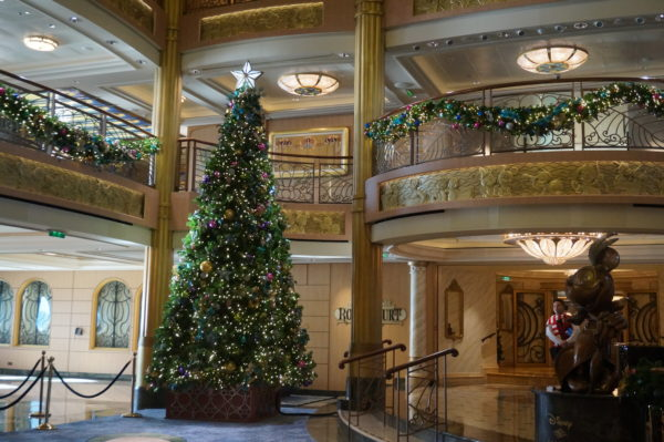 The Christmas tree in the main atrium is a focal point for photos and the Tree Lighting Ceremony.