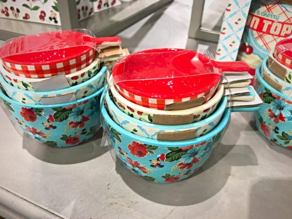 Nesting measuring cups in nostalgic colors $24.99