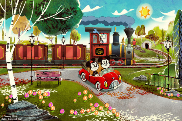 Walt Disney World Resort guests will step through the movie screen and join Mickey and pals on a wacky adventure set to open at Disney's Hollywood Studios in Florida in 2019. Mickey & Minnie's Runaway Railway, the first-ever ride through attraction themed to Mickey and Minnie Mouse, will feature dazzling visual effects, a lovable theme song, and twists and turns ideal for the whole family. Photo credits (C) Disney Enterprises, Inc. All Rights Reserved